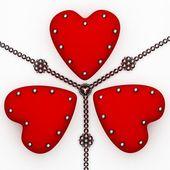 Trzy serca — Zdjęcie stockowe