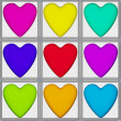 Heart tiles — Stock Photo