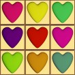 Heart tiles — Stock Photo #19484883