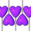 Purple heart — Stock Photo