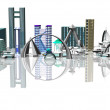 Royalty-Free Stock Photo: 3d city