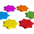 Colorful star — Stock Photo