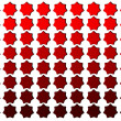 Royalty-Free Stock Photo: A number of red stars