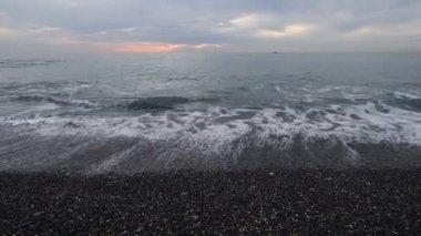 Sea sunset. — Stock Video