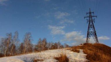 Electricity pylon. — Stock Video