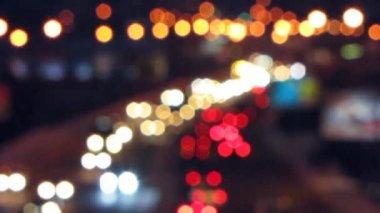 在晚上的公路. — 图库视频影像