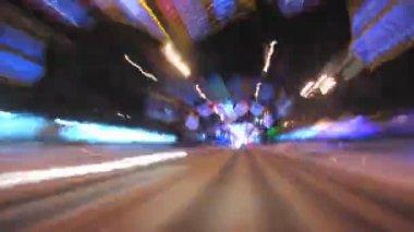 Night Driving. — Stock Video