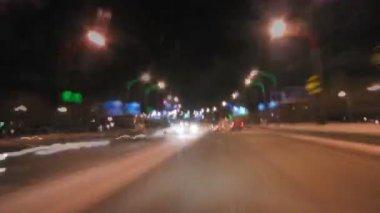 Nocna jazda. — Wideo stockowe