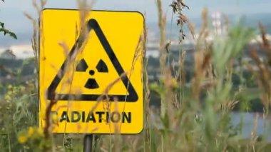 Radiation, warning symbol. — Stock Video