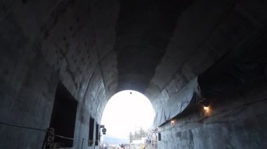 Tunnel construction — Stockvideo