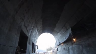 Tunnel construction — Vídeo de stock