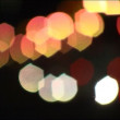 Defocused highway lights. — Stock Video