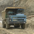 Dump truck in a quarry. — Stock Video
