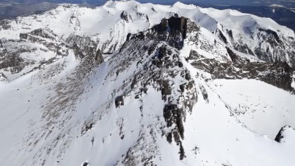 Paisaje de montaña del aire. — Vídeo de stock