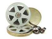 35mm Film In Two Reels And Its Can — Stock Photo