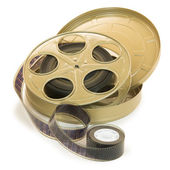 35mm Film In Reel And Its Can — Stock Photo