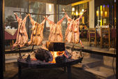 Cooking Goats over Coals — Stock Photo