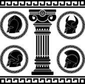 Casques antiques — Vecteur