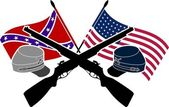 Amerikan i̇ç savaşı — Stok Vektör