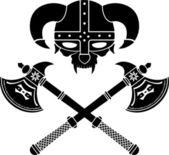 Fantasy viking helmet — Stock Vector