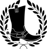 Boot with spurs — Stock Vector