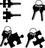 Puzzle keys — Stock Vector