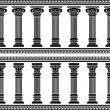 Stock Vector: Colonnade
