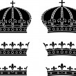 Royalty-Free Stock Vector Image: Set of crowns