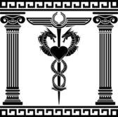 Fantasy medical symbol — Stock Vector