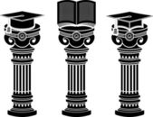 Pedestals of education — Stock Vector