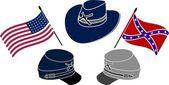 Symbol of american civil war — Stock Vector