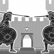 Fight of two knights — Imagen vectorial