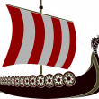 Stock Vector: Viking ship