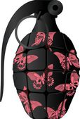 Glamour grenade — Stock Vector