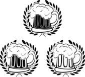 Glory of beer. stencils — Stock Vector