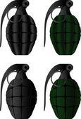 Grenades — Stock Vector