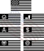 ファンタジー米国旗のステンシル — ストックベクタ
