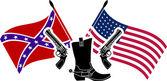 American civil war. stencil — Stock Vector
