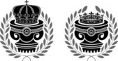 Pedestals of crowns — Stock Vector