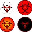 Signs of bio hazard — Stock Vector