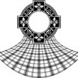 Stencil of scottish celtic ring — Vettoriali Stock