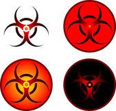 Signs of bio hazard — Stock Vector