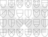 Stencils of division of the shield — Stock Vector