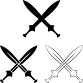 Set of crossed swords — Vector de stock