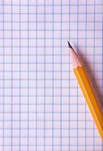 Paper page texture with pencil — Stock Photo