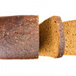 Black bread isolated on white background — Stock Photo