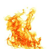 Fire flame isolated on white backgound — Stock Photo