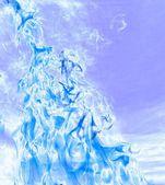 Abstrait flamme bleue froide — Photo