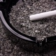 Cigarette in ashtray — Stock Photo