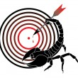 Stock Vector: Target and scorpion